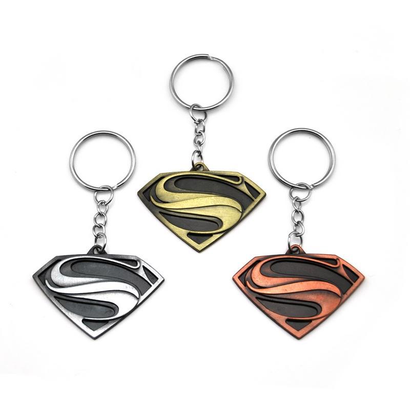 Superhero Batman Keychain Men Trinket Super Hero Marvel Spiderman Car Key Chain Chaveiro Key Ring Holder Jewelry Gift Souvenirs