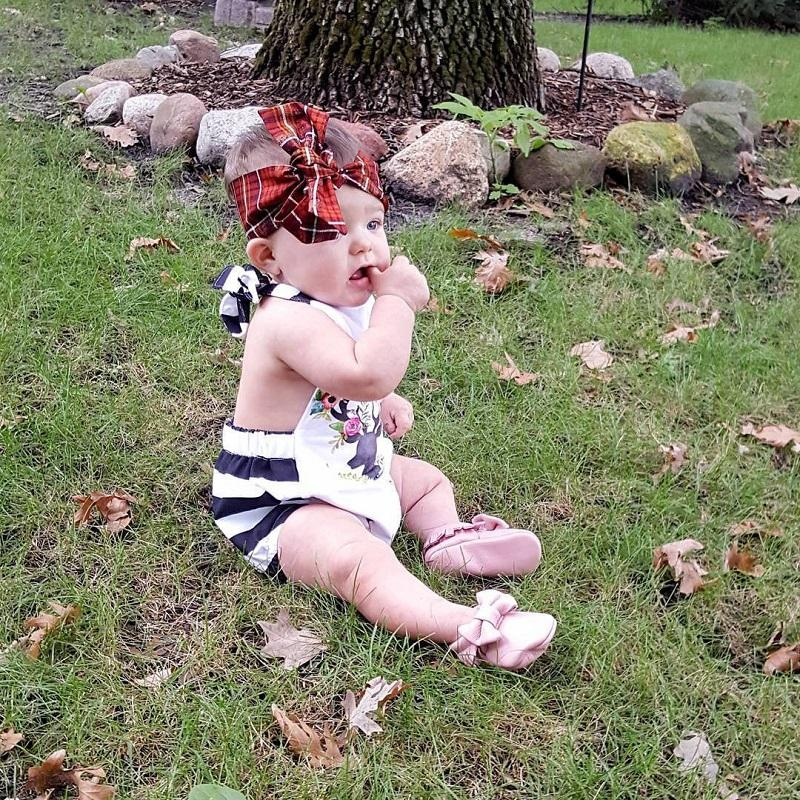 baby girls clothes Newborn Infant Floral Deer Romper Roupas Jumpsuit Toddlers boutique clothing Outfits Ruffled Pajamas Handmade Bodysuit