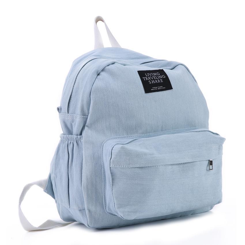 31182add070dd Großhandel Frauen Denim Rucksäcke Weibliche Schultaschen Für Jugendliche  Mädchen Reisen Mode Raum Bagpack Freizeit Tasche Rucksack Von Bags wallets