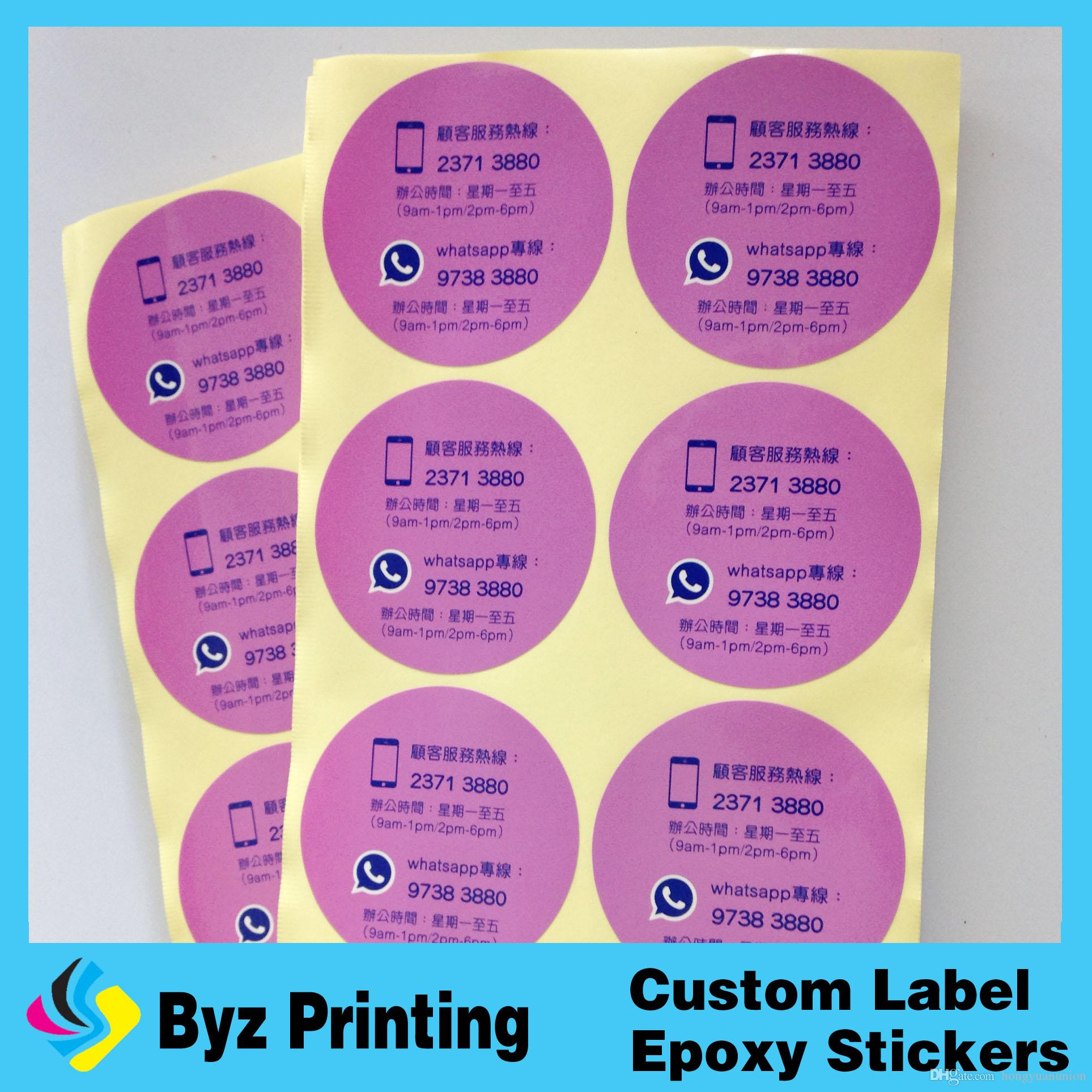2018 Die Cutting High Quality Printing Custom Self Adhesive Black Sticker Circle Stickers Label Waterproof Round Vinyl From Hongyuanunion 004 Dhgate