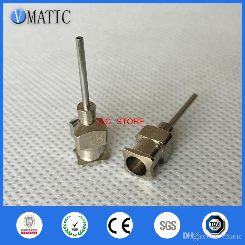 VC-A1148 0.5 inch Tip Length 18G All Metal Tips Blunt Stainless Steel Glue Dispensing Needles