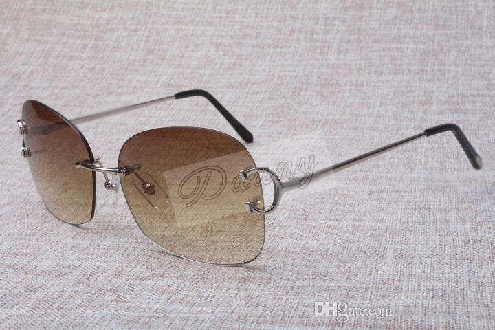 핫 도매 중립 틀없는 금속 선글라스 4193829 남성 높은 품질의 패션 선글라스 무료 배송 크기 : 62-18-135mm