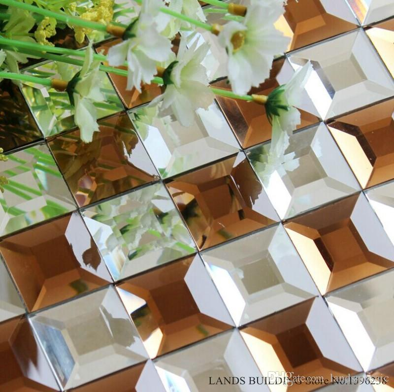 2018 Mixed Color 5edges Beveled Crystal Diamond Shining Mirror Glass Mosaic Tiles For Wall Ktv Display Cabinet Diy Decor Colors Optional Lsmr14 From