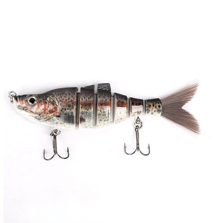 Best Popular Soft Tail 6 Multi-section Fishing Lures or Double Hooks 160cm 39g Rattlin Hard Baits for Saltwater Freshwater