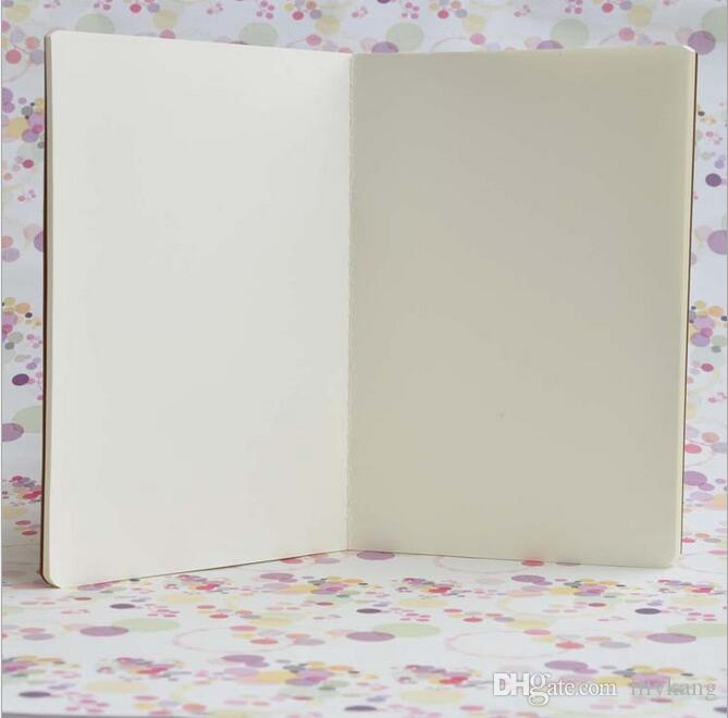 cowhide paper notebook blank notepads book vintage soft copybook daily memos Kraft cover journal notebooks office school book