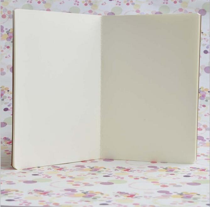 Sığır derisi kağıt dizüstü boş bloknotlar kitap vintage yumuşak lekelemek günlük notlar Kraft kapak dergisi notebook ofis okul kitap