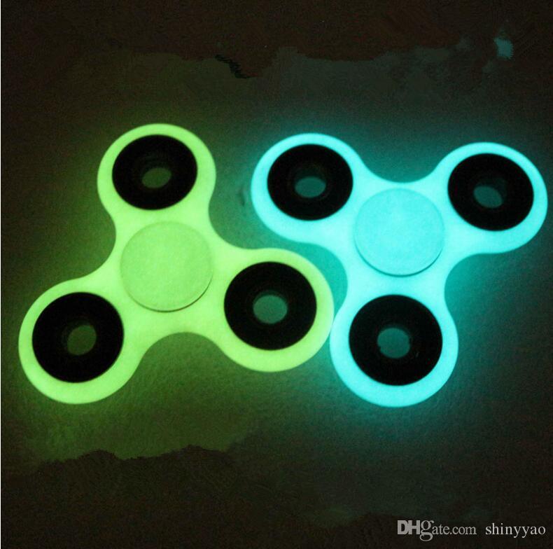 Glowing Dedo giroscópio Fidget Spinner Girando em espiral de alta velocidade Brinquedo adulto Americano ABS Luminous Fidget spinner