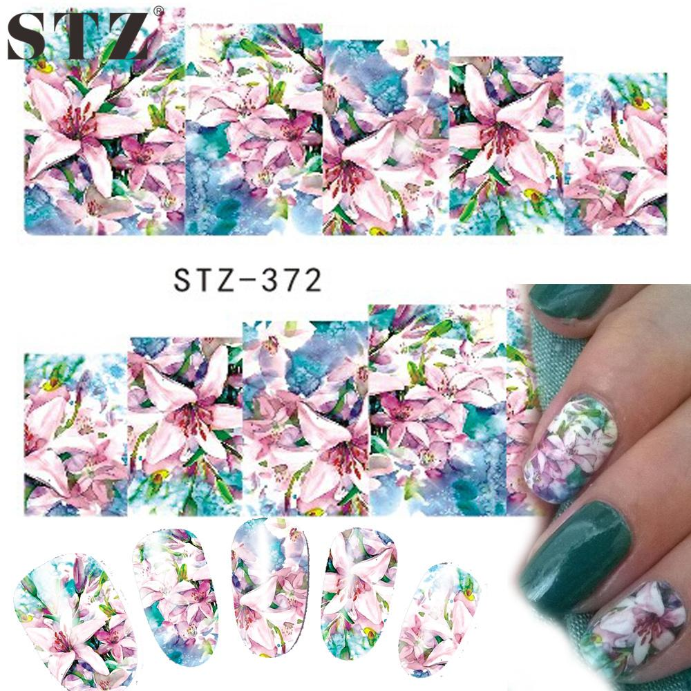 Wholesale Stz 1 Sheets Women Nail Art Designs Watermark Temporary