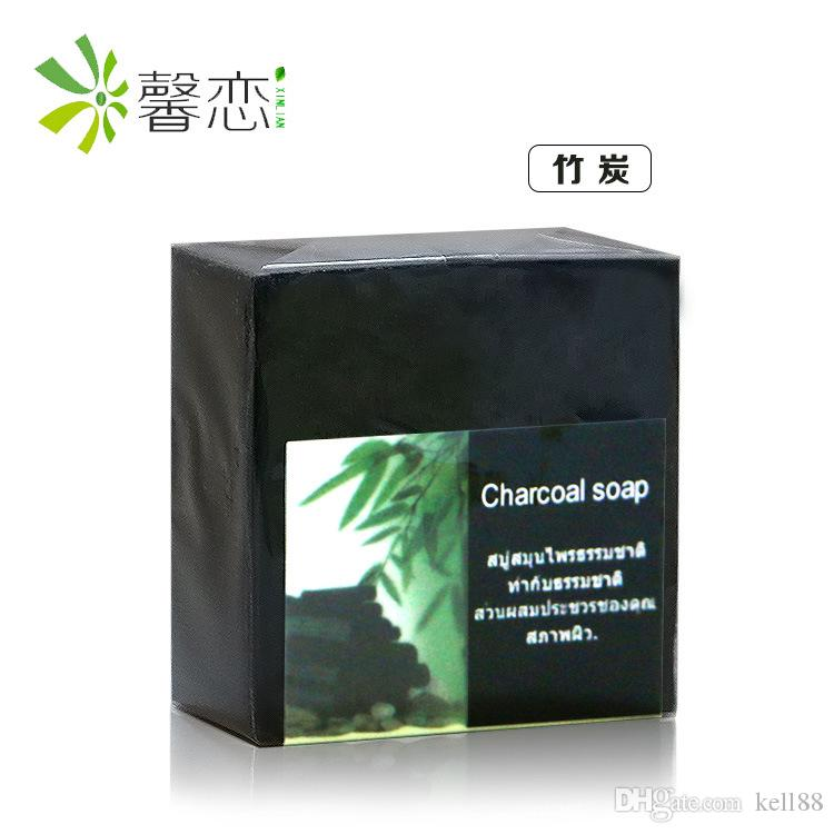Bamboo charcoal soap deep clean to blackheads Cleansing Soap Hand soap