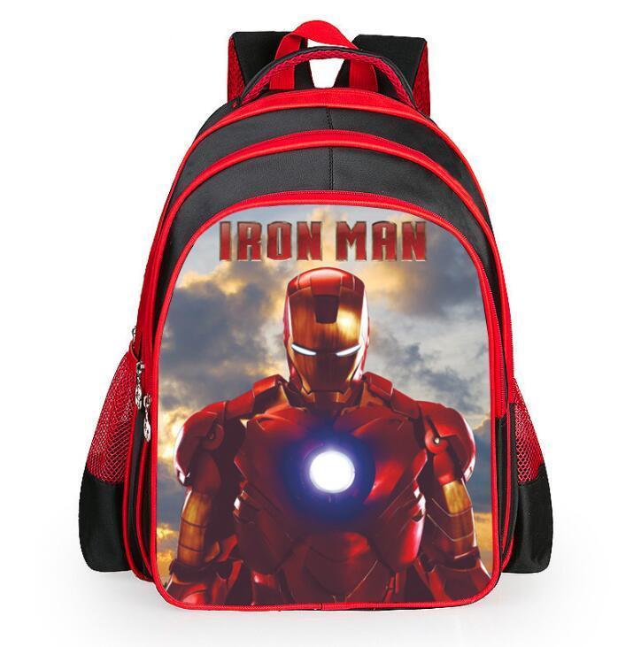 836a27c0804 Compre Héroes Iron Man Patrón Estudiante Mochila Niños Pupil School Bag  Niños   Chica Mochilas Bolsas De Libros Para Niños Teengers A  19.48 Del ...