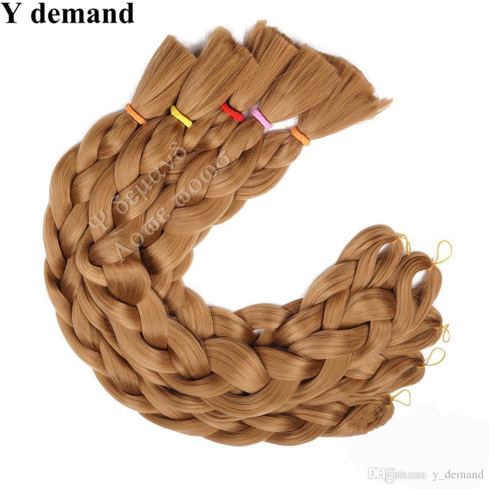 Xpression sintetico intrecciare i capelli all'ingrosso economici 82 pollici 165 grammi singolo colore Premium ultra treccia Kanekalon jumbo intrecciare le estensioni dei capelli