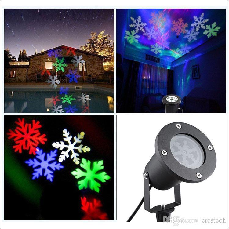 christmas garden LED snowflake projector AC100-265V EU US UK AU plug snow moving LED decoration xmas lamp outdoor LED lights
