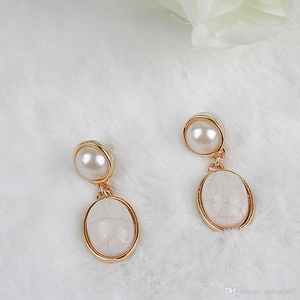 Il nuovo design KC orecchini d'oro resina orecchini pendenti gioielli regalo dichiarazione