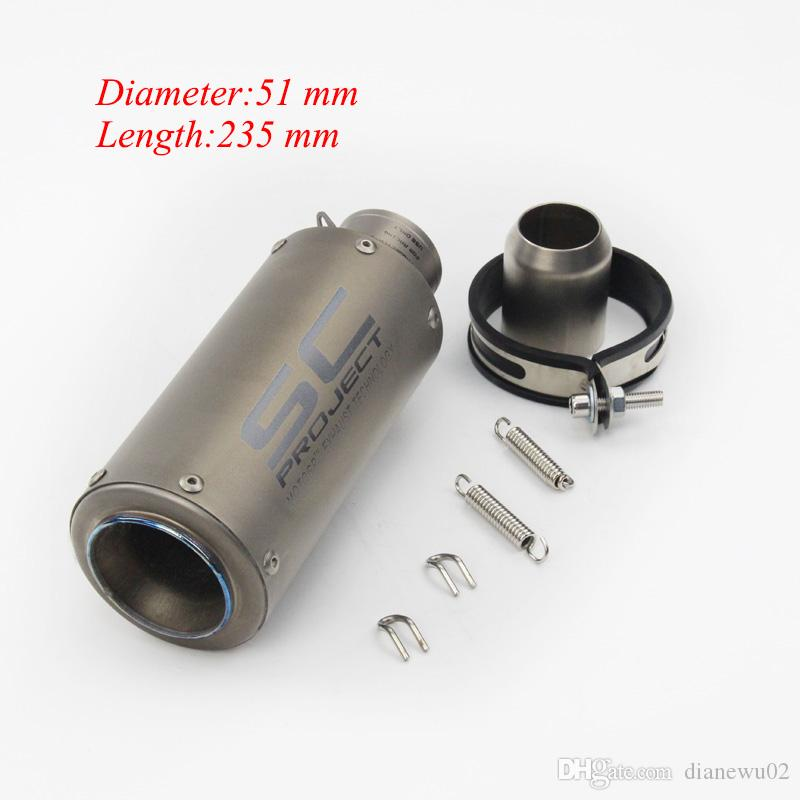 Length 235 mm Universal Motorcycle Exhaust Vent Pipe for Scooter Motorcycle Street Bike