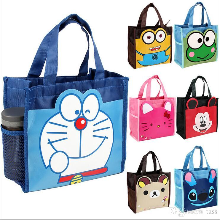 New Cute Canvas Cartoon Girl Lunch Bags Storage Bags Thicker - Cartoon handbags