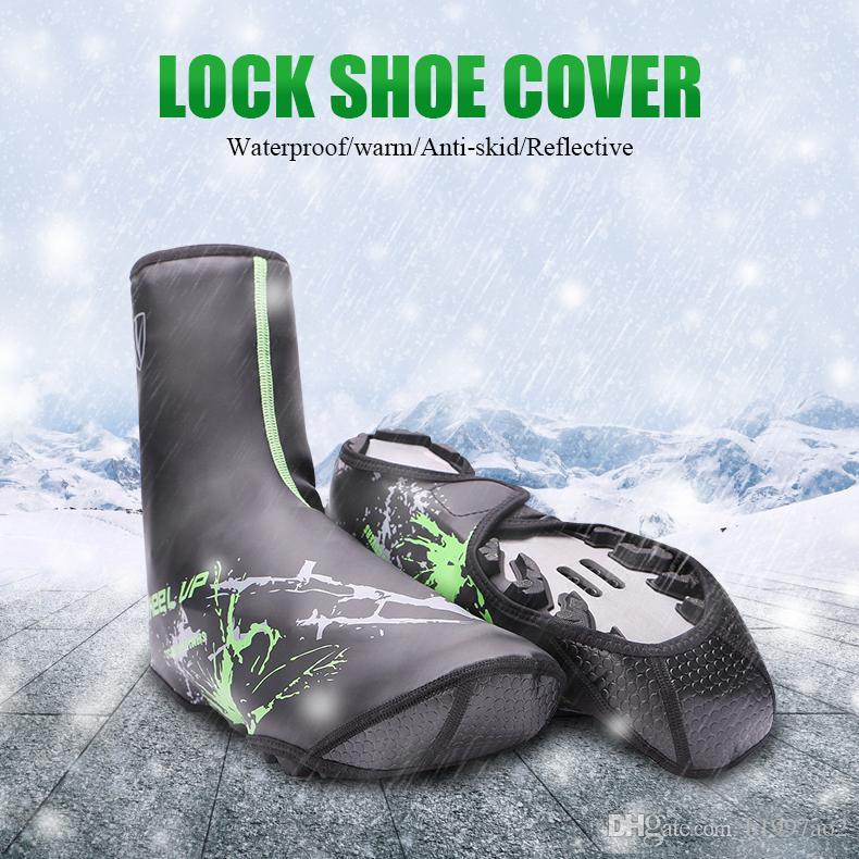 Binmek Ayakkabı kapak Dağ yol Kilidi ayakkabı su geçirmez Ayakkabı kapak Kalın açık Rüzgar Geçirmez Yağmur Tutmak Sıcak Ayakkabı kapak