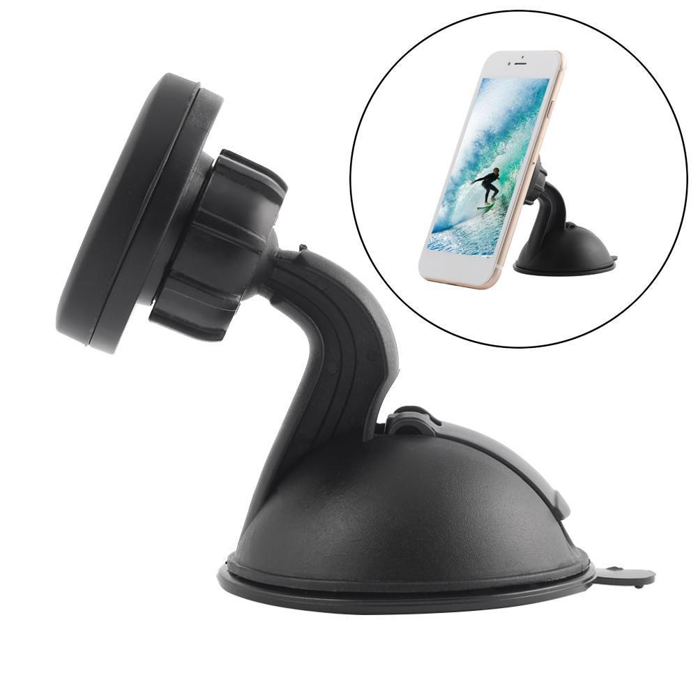Magnet Car Phone Holder 360 Degree Rotation Long Arm Windshield Ac Mount Bracket Stand With Suction Cup For Iphone 7 Android A273