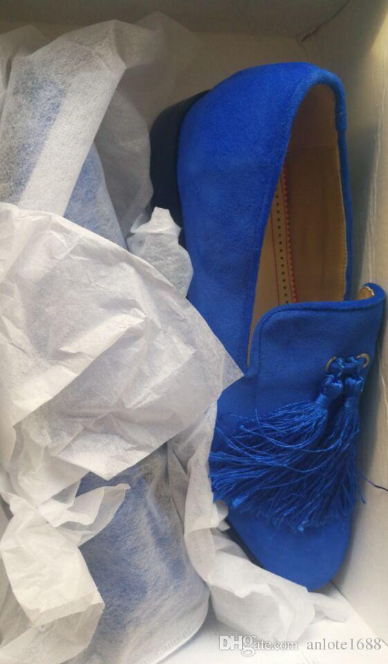 민들레 술 술 나팔 클럽 남자 드리 워진 로퍼 부르고뉴 라이트 블루 벨벳 신발 Espadrilles 남자 드레스 웨딩 슈즈 스웨이드 슬리퍼
