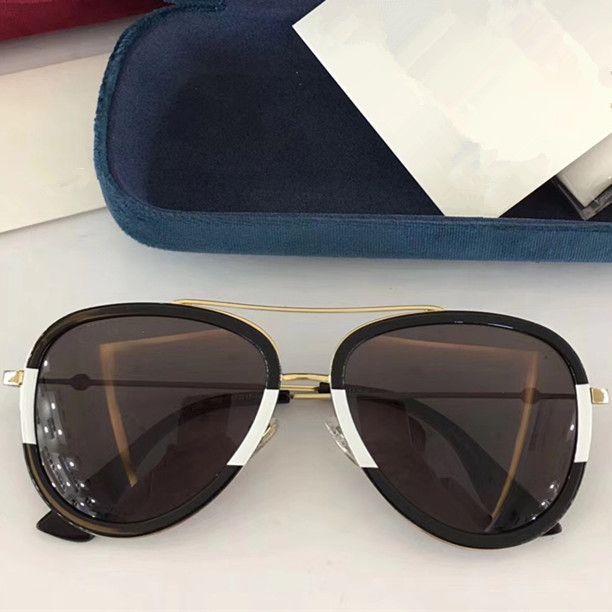 luxury designer sunglasses for women 0062 classic Summer Fashion Style metal Frame eye glasses Top Quality eyewear UV Protection Lens