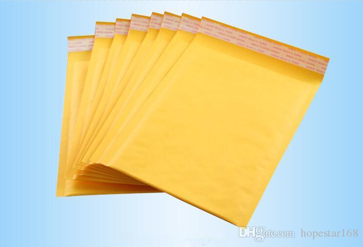 122 * 178 mm + 40 mm Kraft Bubble Bags Mailers Bolsas de sobres acolchadas Papel de regalo Embalaje Envoltura CD Suministros para fiestas