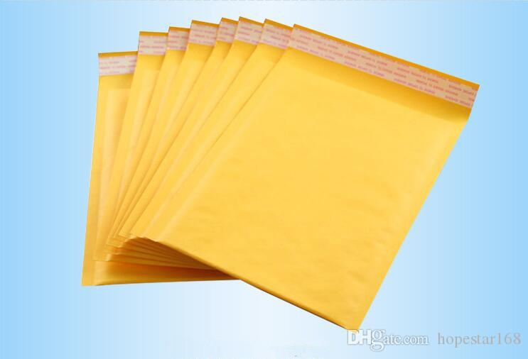 Uncoated Kraft Bubble Mailers Padded Envelopes Bags Paper Gift Wrap CD Size 122X178MM +40MM Party Supplies DHL Digital Printing