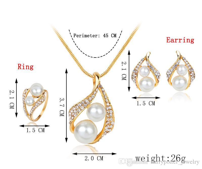 9d073034f2ed Collar / Pendiente / anillo de la joyería de perlas para conjuntos de  joyería de perlas naturales de agua dulce para las mujeres Collar de la ...