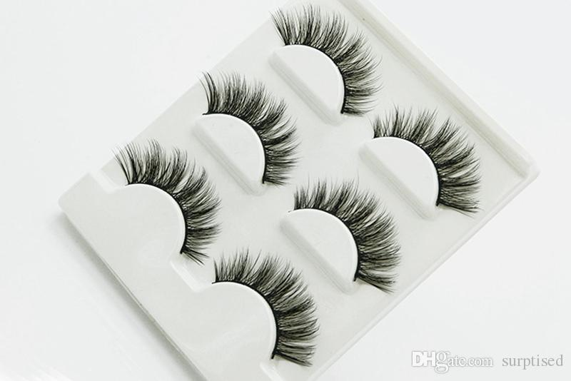 3D Three-dimensional Multi-layer Thick False Eyelashes Handmade Cotton Stems Fake Eyelashes Stage Smoked Makeup Lashes Tool