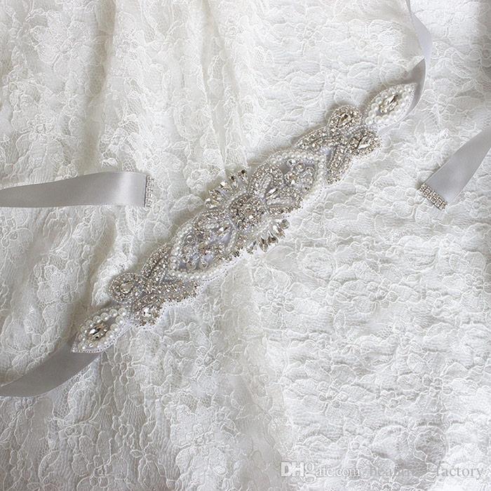 Cintura da sposa brillante Strass da sposa Faux Pearl Princess Sash Abito da damigella d'onore Cintura Accessori da sposa Nastro multi colore BW54