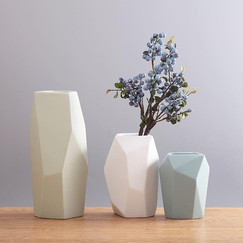 Modern Cystal Valentine Day Ceramic Vase Decoration Room Flower