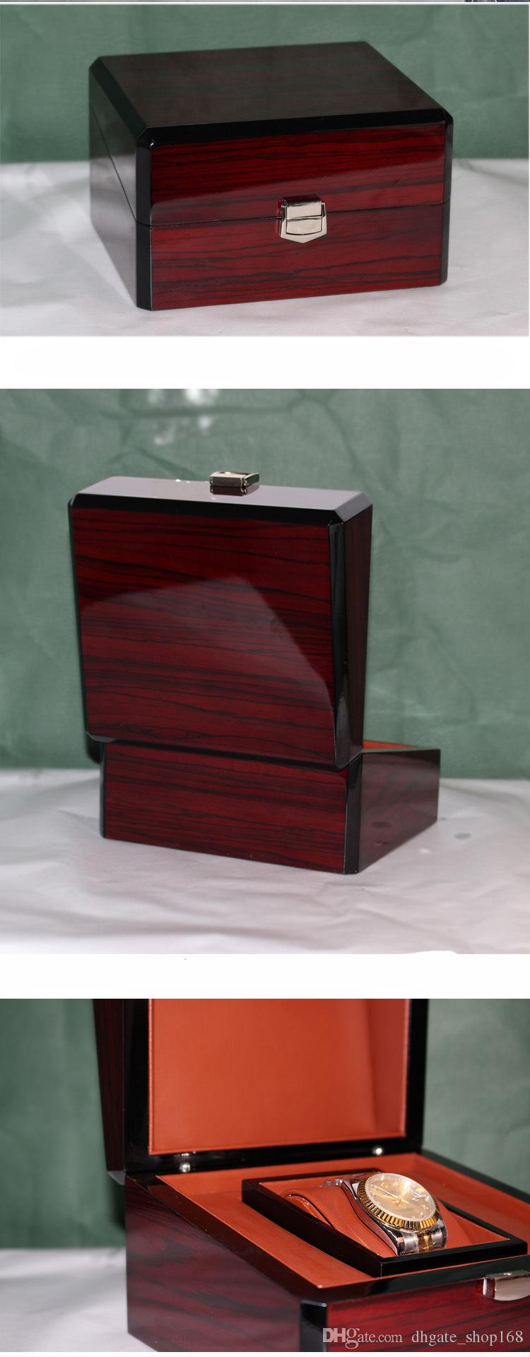 Wholesale Wood Watch Boxs New Rectangle Brand Watches Boxes High Quanlity Watch Gift Box Original Watch Storage Case boxs
