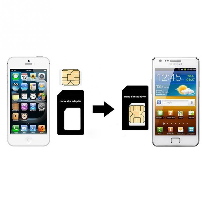4 in 1 Nano Sim Card + Micro Sim Adapter + Standard Sim Card Adaptor +Eject Pin Key For Apple iPhone 7 6 6S Plus 5 5S 5C SE 4 4S