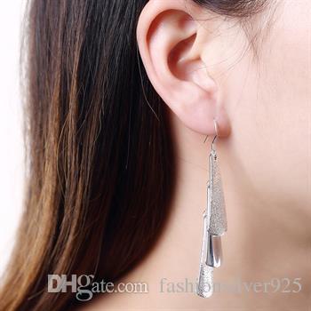 도매 - 소매 최저 가격 크리스마스 선물 925 실버 3 귀걸이 E015 매달려