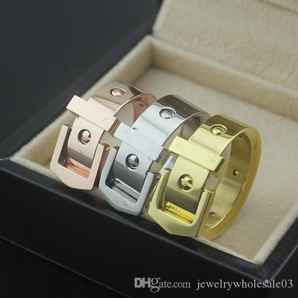 Wholesale, foreign trade hot jewelry, fashion belt nail ring, 18K lady ring