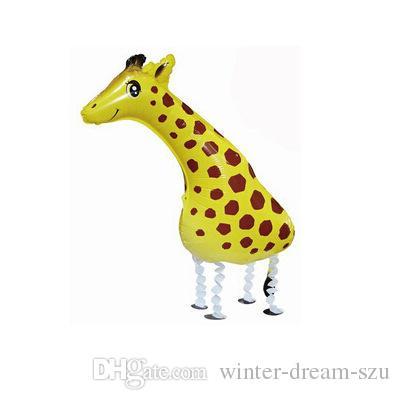 Alta qualità a buon mercato a piedi animale palloncino gonfiabile di alluminio Foil Cartoon Walking Pet palloncino di Natale festa di compleanno decorazione giocattolo C162Q