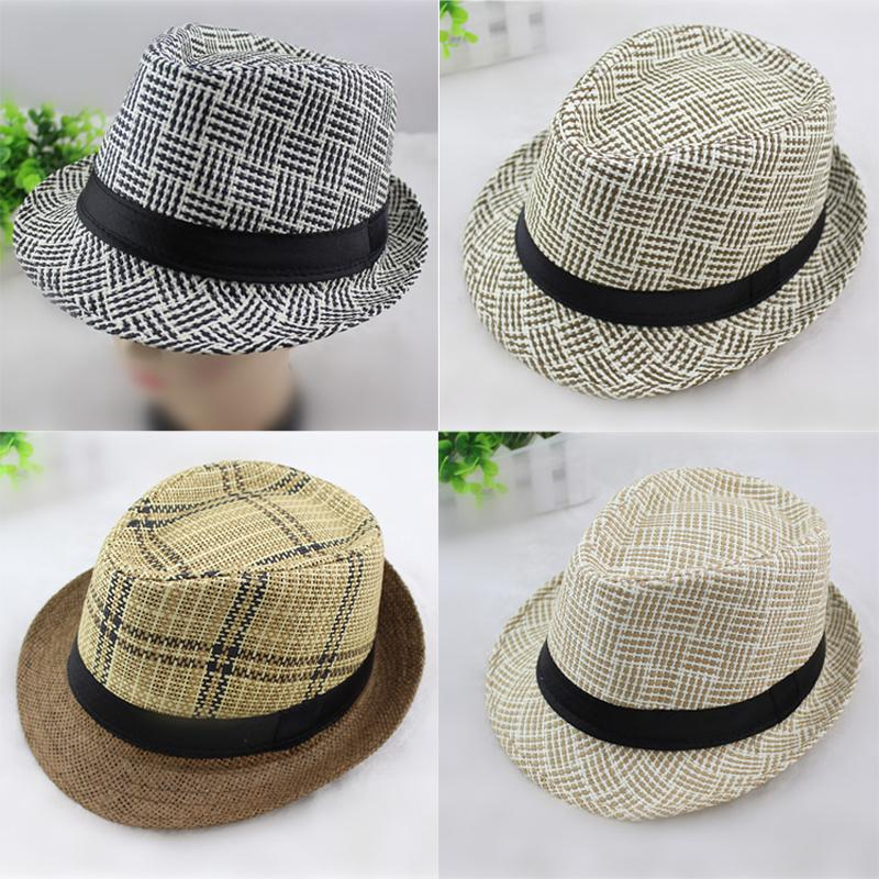95e3964e6ea 2019 Spring Summer Men Women Straw Hats Soft Fedora Panama Hats Outdoor  Stingy Brim Caps Unisex Fashion Street Top Hats Jazz Cap GH 61 From  Gslyy0712