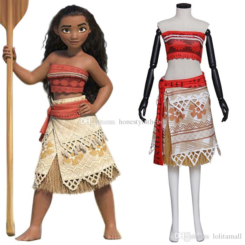 new movie moana outfit princess dress costumes halloween cosplay moana skirt cosplay costumes plus size custom pirate halloween costumes plus size costume
