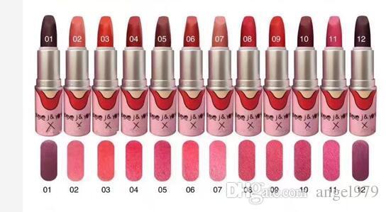 En Çok Satan iyi satış YENI Marka tMakeup MAT LIPSTICK Oniki farklı renkler 24 adet ÜCRETSIZ KARGO