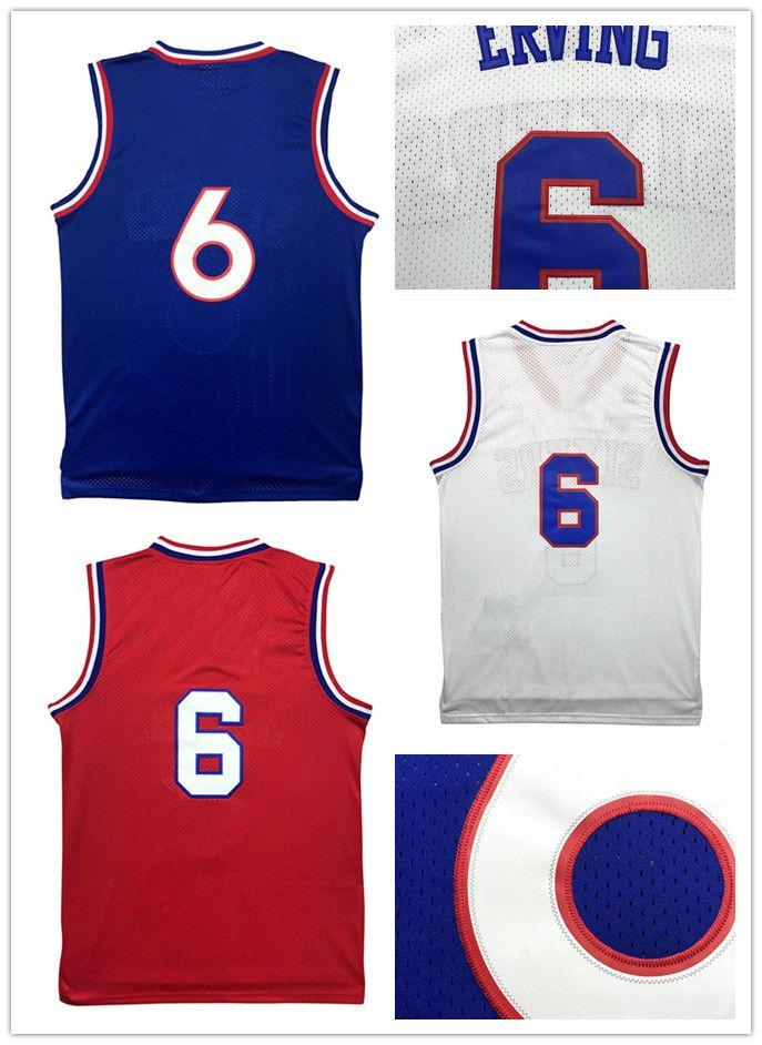 e3e8d3f767f ... Basketball 2017 Throwback MenS 6 Julius Erving Jersey Mesh Retro Adult  Embroidery Logos 6 Julius Erving Jersey ...
