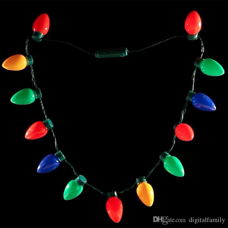 El collar de Navidad LED enciende los favores del partido del bulbo para los adultos o los niños como regalo del Año Nuevo