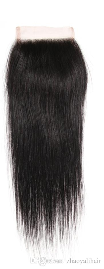 Indian Silk Straight Virgin Human Hair With Frontal Closure Cheap 3 Bundles With 360 Lace Band Frontal Closure