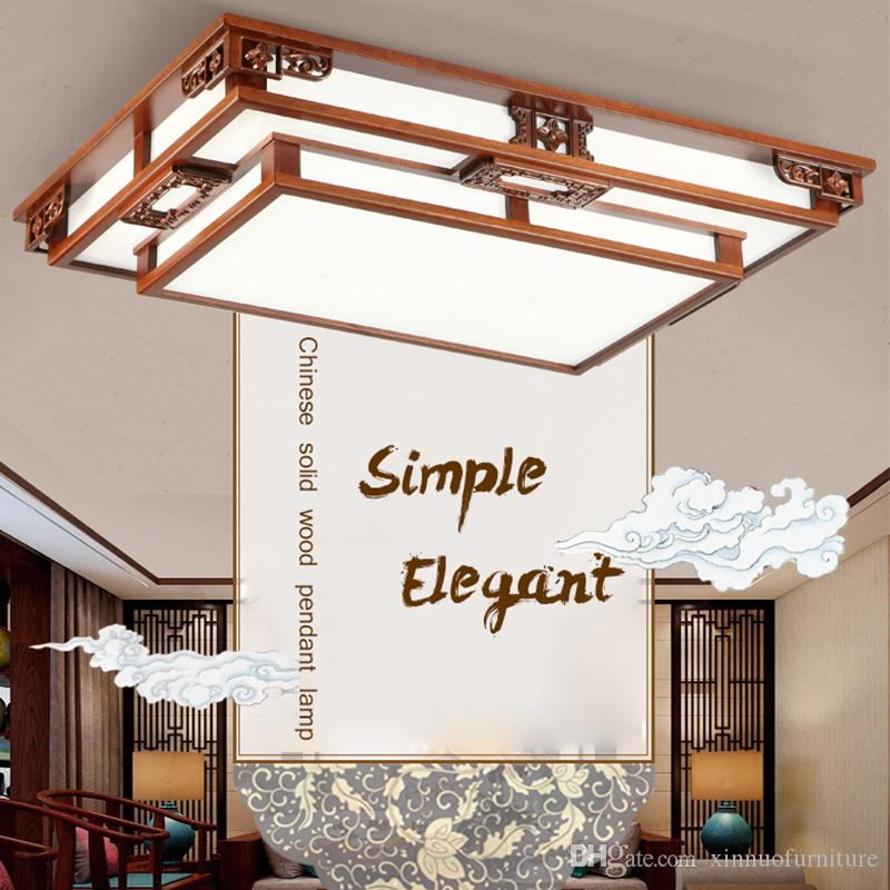 2019 Chinese Style Ceiling Light Sapele Frame Living