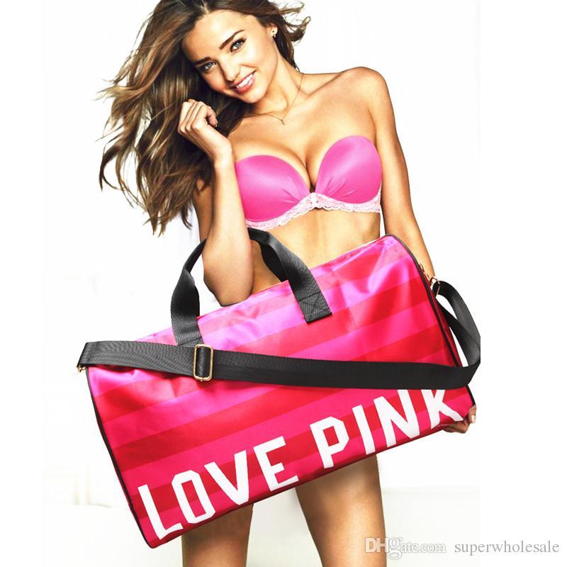2017 Vs Love Pink Duffle Bag Brand Handbags Large Capacity Travel ...
