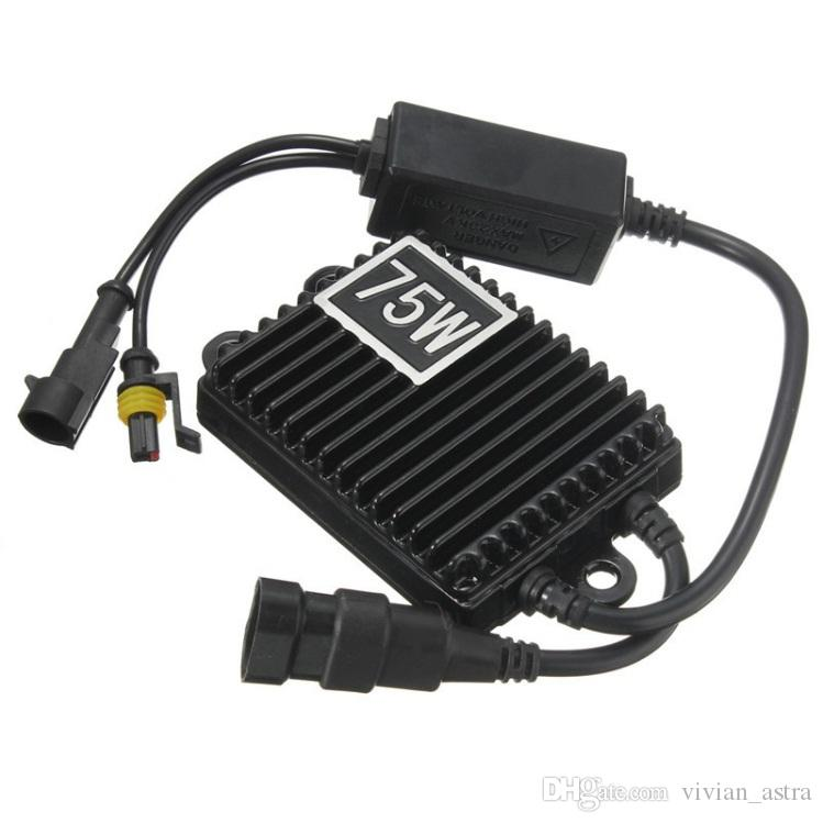 Excellent Quality 75W For HID Bi Xenon Slim Digital Replacement Ballast Reactor Light For H1 H3 H7 9006