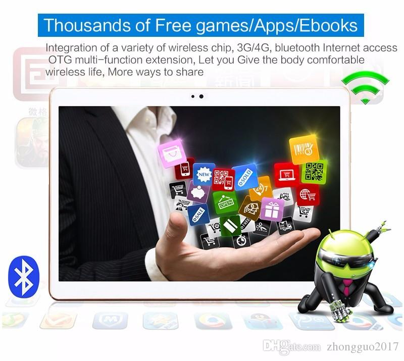 Waywalkers 10 polegada 3G 4G tablet pc octa núcleo 4 gb ram 32gb rom Cartões Dual SIM Android 5.1 GPS Tablets PCs Chamada Presentes telefone