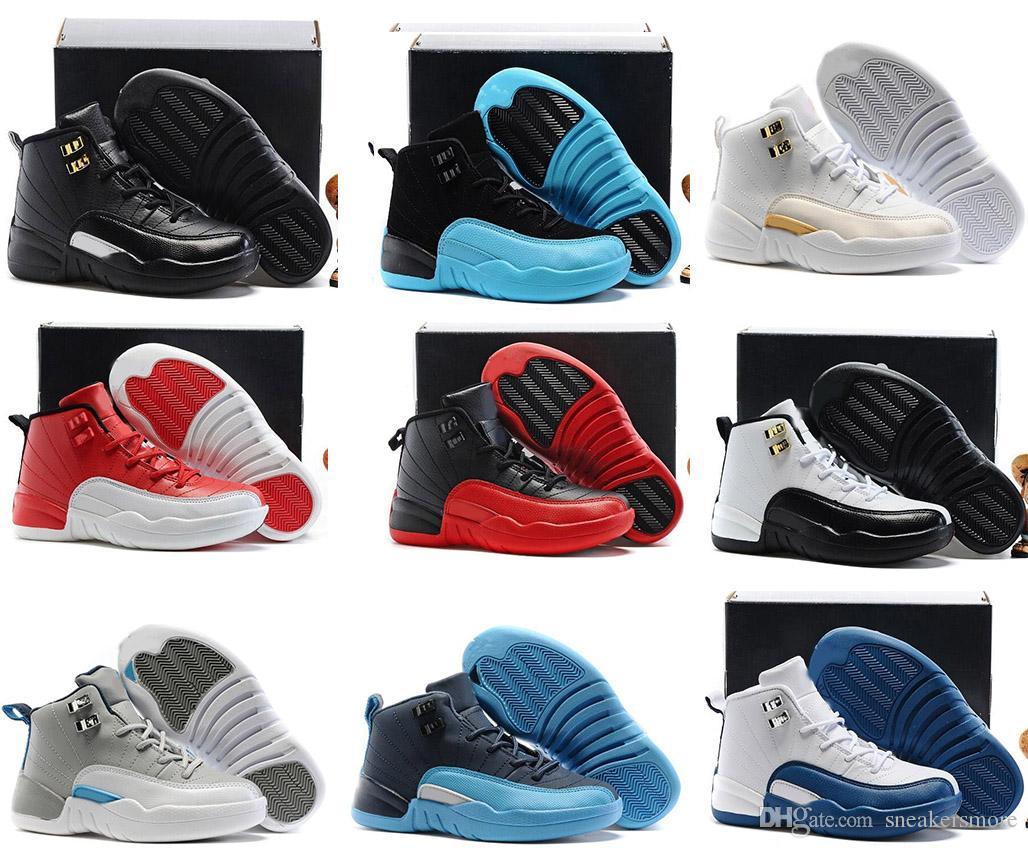 00408714cd3bf Acheter Nouveau 12 Enfants Chaussures De Basket Ball Enfants 12s Haute Qualité  Chaussures De Sport Jeunesse Garçon Fille Basket Ball Sneakers Vente En  Ligne ...