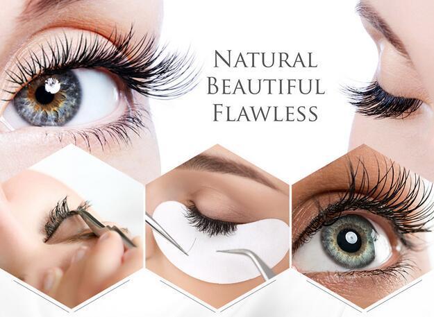 Desechable pistas del ojo del latigazo parches de papel extensión de la pestaña del ojo Consejos etiqueta Wraps compone las herramientas de la pestaña Pad