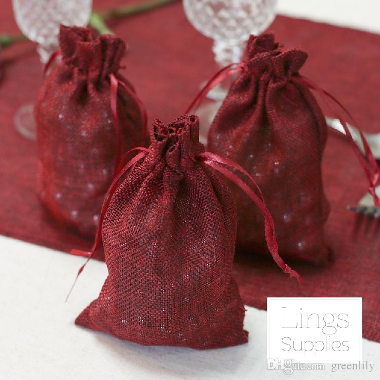 Small Wedding Candy Bags Linen Bags Gift Bags Wedding Accessories