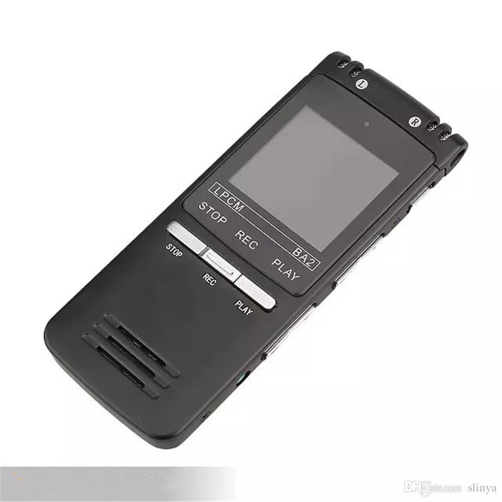 8GB Ultrathin Professional AGC Digital Audio Voice Recorder Registrazione WAV MP3 Doppio microfono indirezionale
