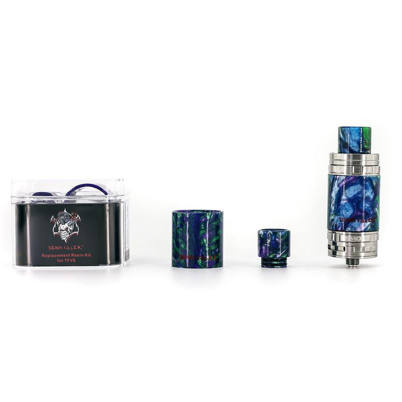 Demon Killer Replacement Resin Kit with Resin Tube and Drip Tip for Cleito 3.5ml 5ml MELO 3 MELO III Mini iJust S TFV8 Baby Vape DHL