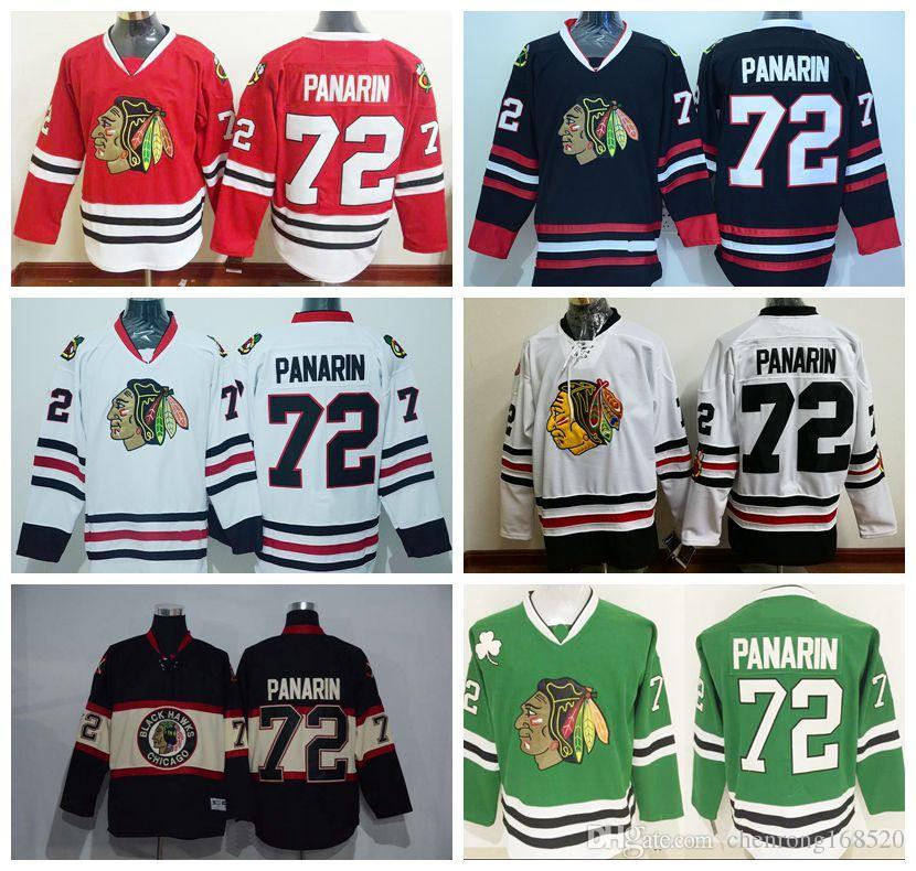 ea8467e68aa ... Cheap 72 Artemi Panarin Ice Hockey Jerseys Chicago Blackhawks Team  Color Red Third Alternate White Black ...